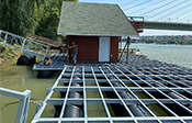 Floating pontoons for marinas